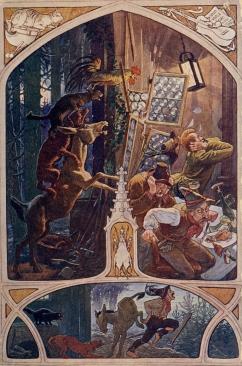 Historische Postkarte aus dem Jahre 1905 - Illustrator J. Felix Elßner