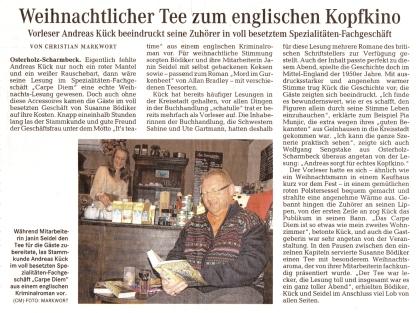 """02 Quelle """"Osterholzer-Kreisblatt"""" vom 19. November 2013; Seite 5"""