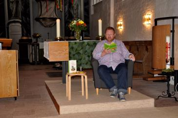 """09 Lesung aus """"Tagebuch einer Killerkatze"""" von Anne Fine zum Gemeindefest der St. Marien-Kirchengemeinde, Osterholz-Scharmbeck am 04.09.2016"""
