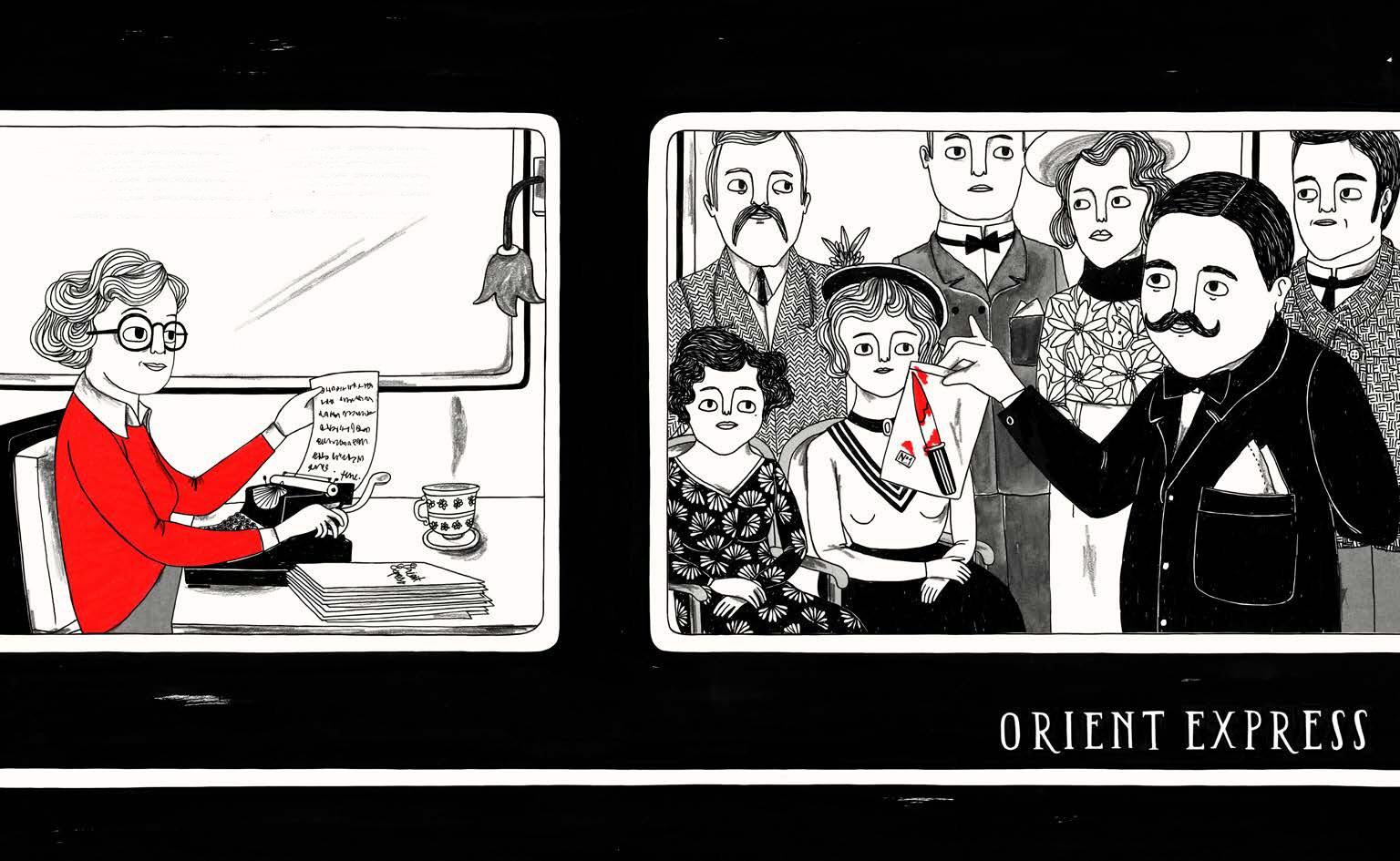 Illustrationen Elisa Munsó Little People, Big Dreams - Agatha Christie Insel Verlag (4)
