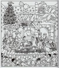 Mein Dezemberbuch. Damals gab es das noch nicht - Illustration Hans Jürgen Press
