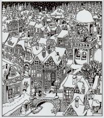 Mein Dezemberbuch. Dreizehn Sterne - Illustration Hans Jürgen Press