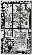 Mein Dezemberbuch. Fünf Fehler auf dem Winterbild - Illustration Hans Jürgen Press