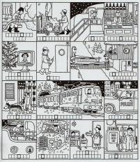Mein Dezemberbuch. Wer hat Weihnachten Dienst - Illustration Hans Jürgen Press