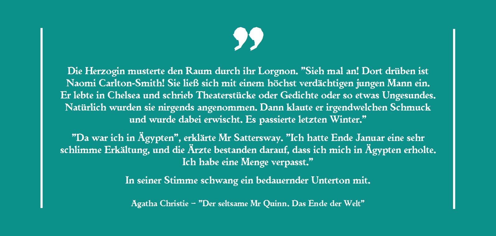 Agatha Christie - Der seltsame Mr Quinn. Das Ende der Welt